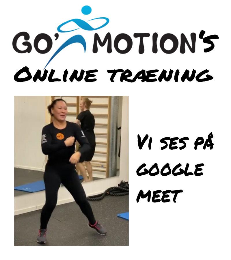 Online træning på google Meet